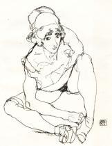 Egon Schiele - studie