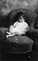 Franz Kafka jako jednoletý