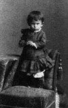 Franz Kafka jako dvouletý