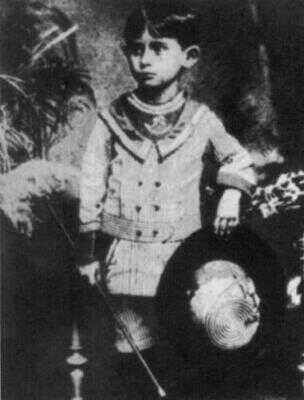 Franz Kafka jako čtyřletý