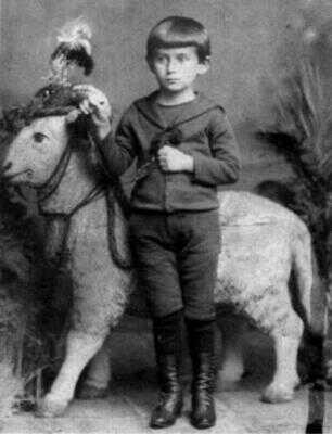 Franz Kafka jako pětiletý