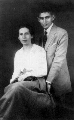 Franz Kafka se snoubenkou Felicí Bauerovou