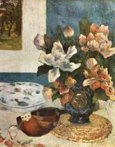 Mandolína a květiny