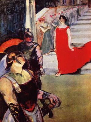 Messalina sestupuje ze schodiště