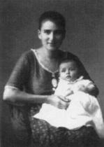Ottla s dcerou Věrou, Domažlice 1921
