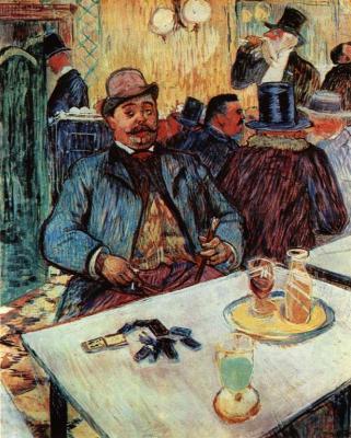 Pan Boileau v kavárně