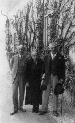 Kafkovy rodiče a jeho strýc Siegfried Löwy
