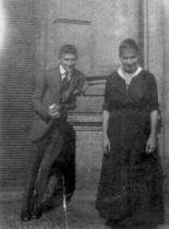 Franz Kafka se sestrou Ottlou