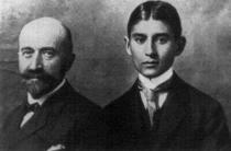 Franz Kafka se strýcem Alfredem