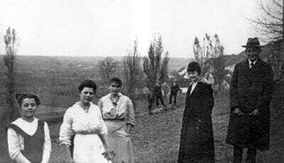 Franz Kafka v Siřemi v roce 1918