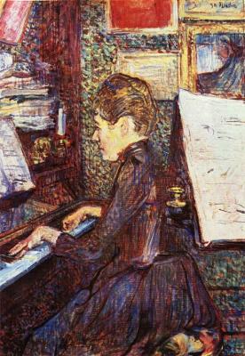 Slečna Dihauová u piana