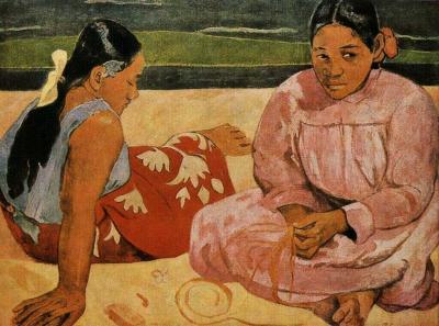 Tahiťanky na pláži