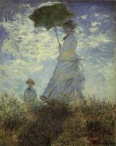 Žena se slunečníkem - Madam Monetová a její syn (La Promenade)