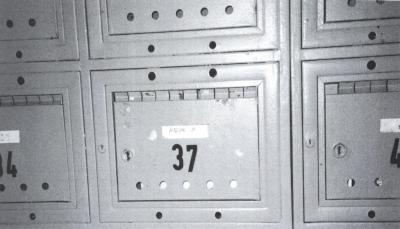 Poštovní schránka Bohumila Hrabala
