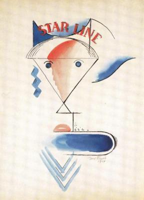 """Hlava ženy """"STAR LINE"""" (1914)"""