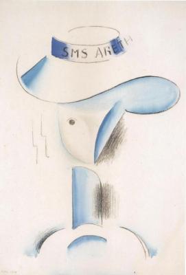 """Hlava ženy """"SMS ARETH"""" (1914)"""