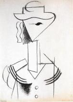 Dívčí hlava s kloboukem (1914)