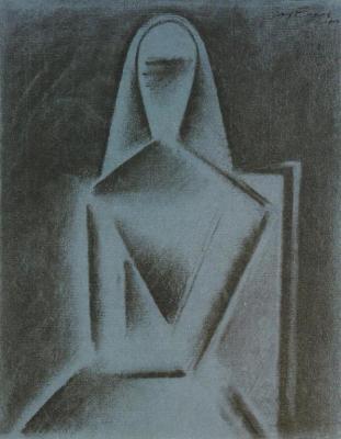 Sedící žena (1915)