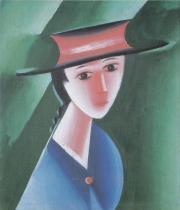 Děvče v červeném klobouku (1915)