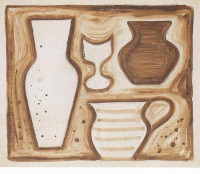 Dvě vázy, hrnek a pohár (1923-1925)