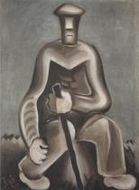 Muž s holí (asi 1927)