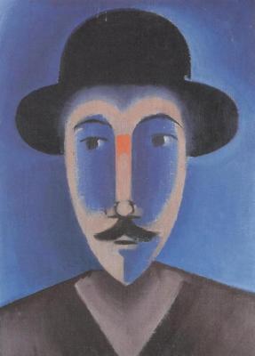 Muž s knírkem v tvrdém klobouku (1916)