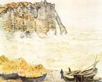 Pobřeží u Etretatu