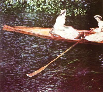 Loďka na řece Epte