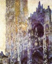 Rouenská katedrála za svítání