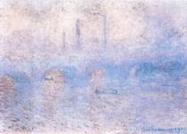 Most Waterloo v mlze