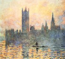 Londýnský parlament v zimě