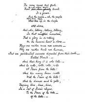 Rukopis básně Zvony