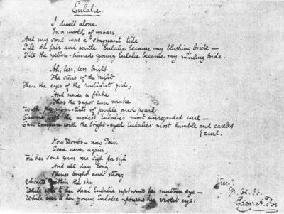 Rukopis básně Eulalie