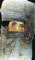 Egon Schiele: Umělcova sestra Melanie, 1908.