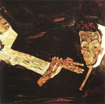 Egon Schiele: Básník (autoportrét), 1911