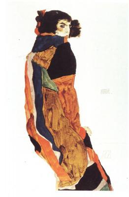 Egon Schiele: Tanečnice Moa, 1911