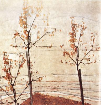 Egon Schiele: Podzimní stromy, 1911