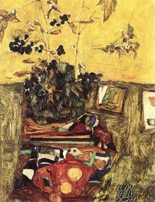 Egon Schiele: Zátiší s květinami, 1911
