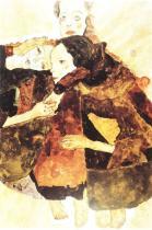 Egon Schiele: Tři děvčátka, 1911