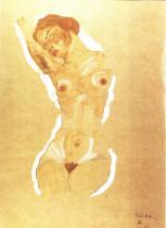 Egon Schiele: Ženský akt, 1911