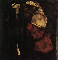 Egon Schiele: Těhotná žena a smrt, 1911