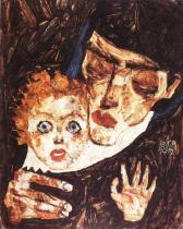 Egon Schiele: Matka a dítě, 1912