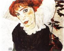 Egon Schiele: Portrét Wally, 1912