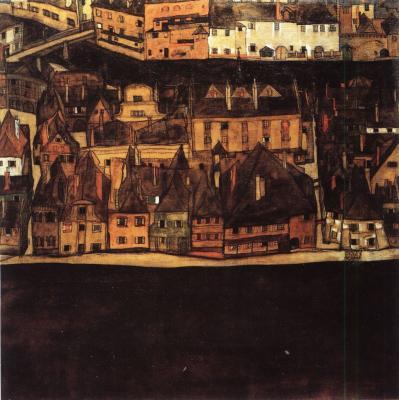 Egon Schiele: Malé město II, 1912-13