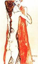 Egon Schiele: Matka a dcera, 1913