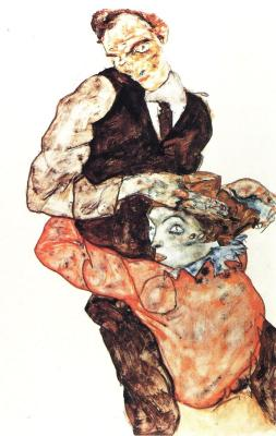 Egon Schiele: Milenci, 1914-15