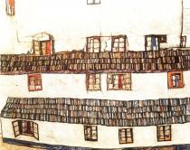 Egon Schiele: Okna, 1914