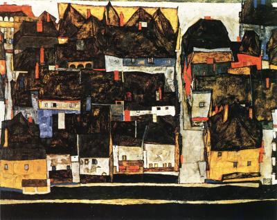 Egon Schiele: Krumlov nad Vltavou, 1913-14