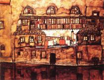 Egon Schiele: Dům na řece, 1915