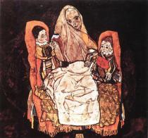 Egon Schiele: Matka s dvěma dětmi, 1915-17